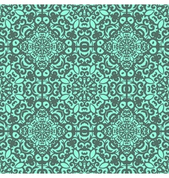seamless pattern with bright green ornament Tile vector image vector image