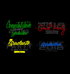 set graduation label text for graduation vector image vector image