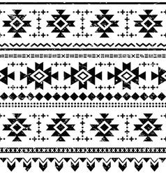Tribal aztec retro seamless pattern vector image