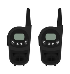 Two travel portable mobile radio set devices no vector