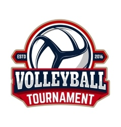 volleyball tournament Emblem template with vector image vector image
