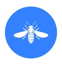 Bee icon in black style isolated on white vector image vector image