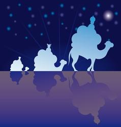 classic three magic scene wisemen vector image vector image
