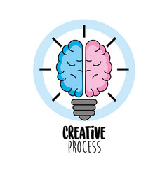 creative process with ideas icons design vector image