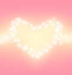 heart abstrack sparkling frame pink background vector image vector image