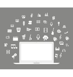 Laptop art vector