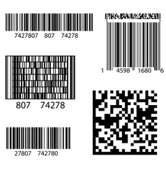 Product barcode 2d square label vector