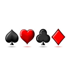 3d suit of playing cards vector image
