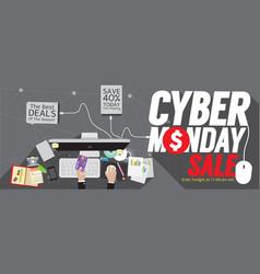 8000x3200 pixel cyber monday super wide banner vector image