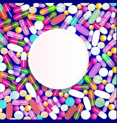 a lot medicines and pills from colorful vector image