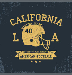 american football california sport typography vector image