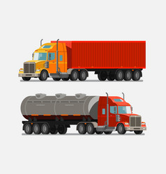 American powerful truck lorry delivery shipment vector