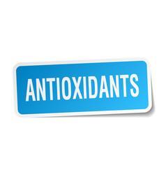 Antioxidants square sticker on white vector