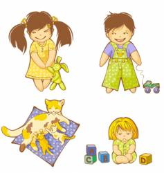babies vector image