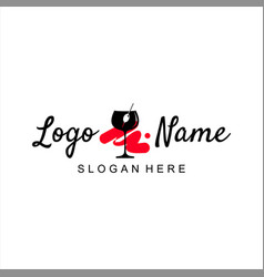 bar logo design simple template idea vector image
