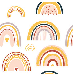 barainbow seamless pattern vector image