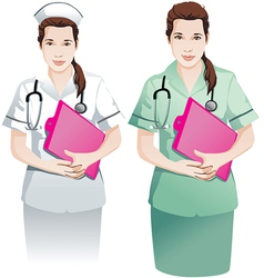 Beautiful Nurse with clipboard vector image