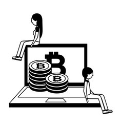 bitcoin cryptocurrency fintech vector image