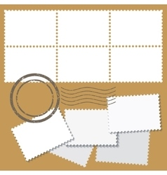 Blank postage marks vector