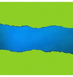 Blue Texture With Green Rip Paper vector