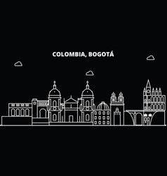 Bogota silhouette skyline colombia - bogota vector