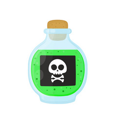bottle of magic acid green toxic poison vector image