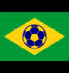 Brazil football vector image