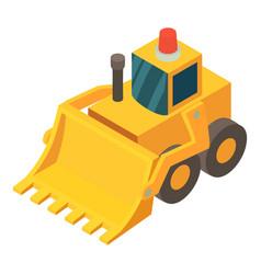 bulldozer icon isometric 3d style vector image