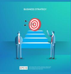 Business goal achievement vision and plan concept vector