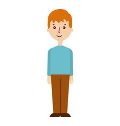 cartoon man icon vector image