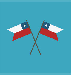Chile flag icon in flat design vector