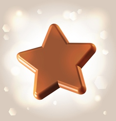 Chocolate star prize vector image