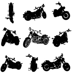 chopper motorcycle silhouette vector image