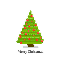 christmas tree in a flat style vector image