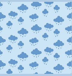 clouds background rain drops pattern seamless vector image