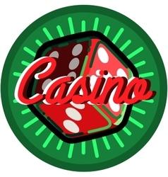 Color vintage casino emblem vector image