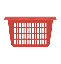 colorful silhouette of laundry basket without vector image