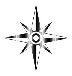 Compass sign on white vector image