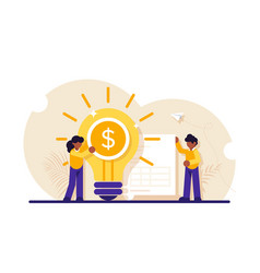 Concept business idea increasing profit vector