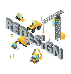 concept with big isometric letters vector image