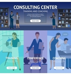 Consulting Service Center Banners vector