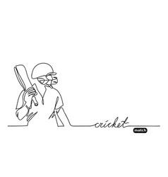 Cricket simple background vector