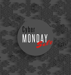 Cyber monday sale poster winter offer advertising vector