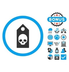 Death Coupon Flat Icon with Bonus vector image