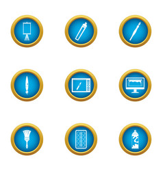 develop a picture icons set flat style vector image