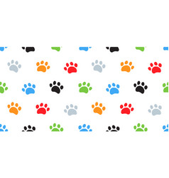 dog paw cat paws seamless pattern vector image