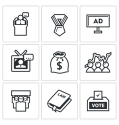 Elections icons vector image