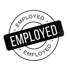 employed rubber stamp vector image