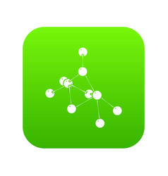 Ethyl acetate icon green vector