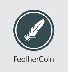 feathercoin - colored logo vector image